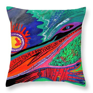 Hand Of Time Throw Pillow