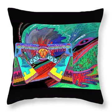 Hand Of Time.meeting Throw Pillow