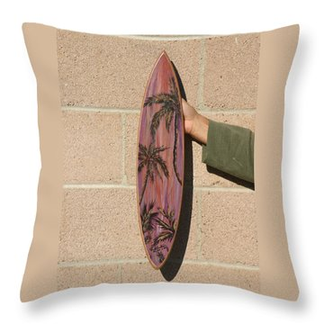 Hand Painted Palms Throw Pillow