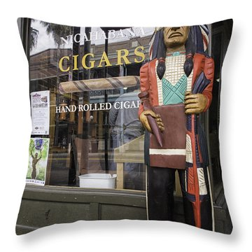 Hand Rolled Cigars Throw Pillow