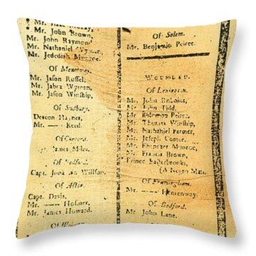 Handbill: Casualties, 1775 Throw Pillow by Granger