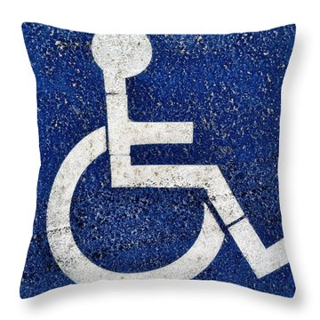 Handicapped Symbol Throw Pillow