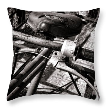 Handlebar Throw Pillow by Olivier Le Queinec