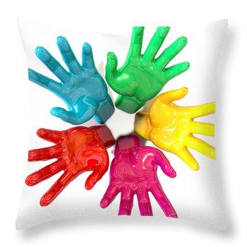 Reach Out Throw Pillows