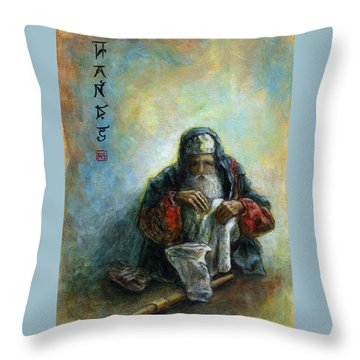 Hands Throw Pillow by Retta Stephenson