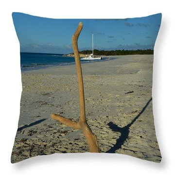 Handstand Throw Pillow by Judy Wolinsky