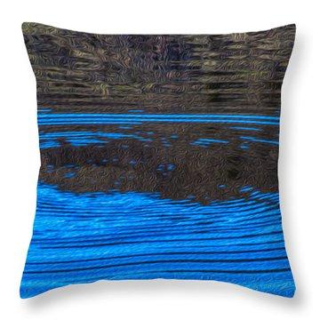 Handy Ripples Throw Pillow by Omaste Witkowski