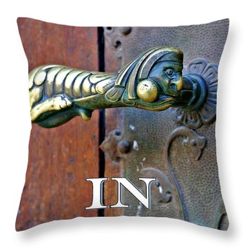 Hang In There Throw Pillow by Henry Kowalski