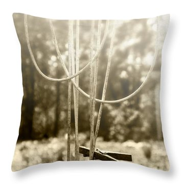 Hang It Up Throw Pillow by Kristie  Bonnewell