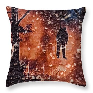 Hang Man In Stone Throw Pillow