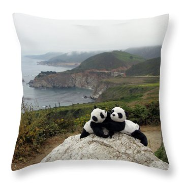 Throw Pillow featuring the photograph Hang On- You Got A Friend by Ausra Huntington nee Paulauskaite
