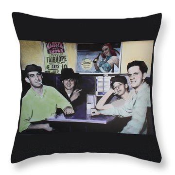 Hanging At The Diner 1949 Throw Pillow