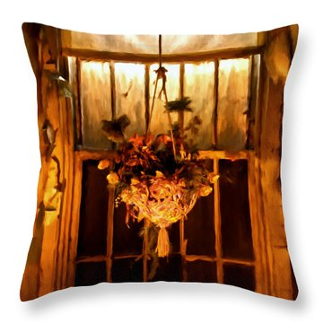 Hanging Basket Throw Pillow by Michael Pickett