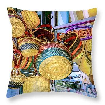 Hanging Baskets Throw Pillow