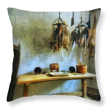 Hanging Game Throw Pillow by Ian Mitchell