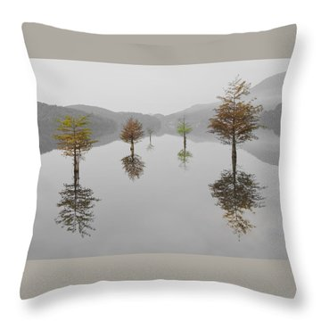 Hanging Garden Throw Pillow by Debra and Dave Vanderlaan
