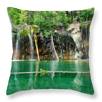 Hanging Lake 1 Throw Pillow by Ken Smith