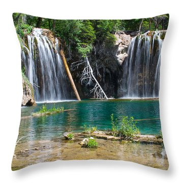 Throw Pillow featuring the photograph Hanging Lake - Colorado by Aaron Spong