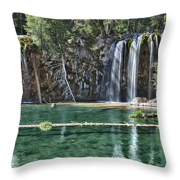 Hanging Lake Throw Pillow by Priscilla Burgers