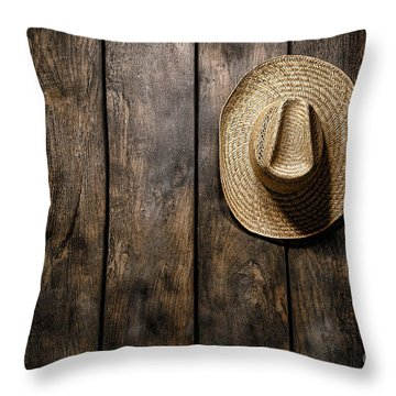 Hanging My Hat Throw Pillow by Olivier Le Queinec