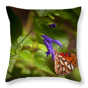 Throw Pillow featuring the photograph Hanging On by Penny Lisowski