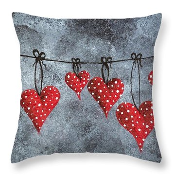 Hanging On To Love Throw Pillow by Oddball Art Co by Lizzy Love