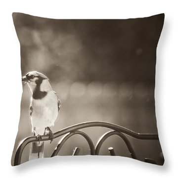 Hanging Out In The Garden Throw Pillow