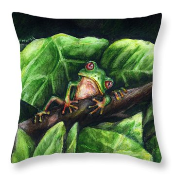 Hanging Out Throw Pillow by Shana Rowe Jackson