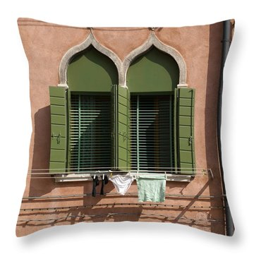 Throw Pillow featuring the digital art Hanging Out To Dry by Ron Harpham