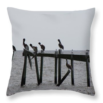 Throw Pillow featuring the photograph Hanging Out With Friends by Beth Vincent