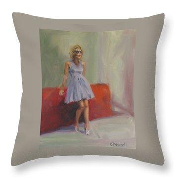 Hangover Throw Pillow by Connie Schaertl