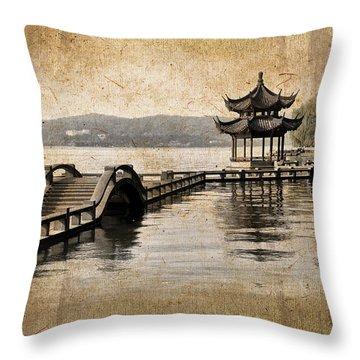Hangzhou Lake Throw Pillow
