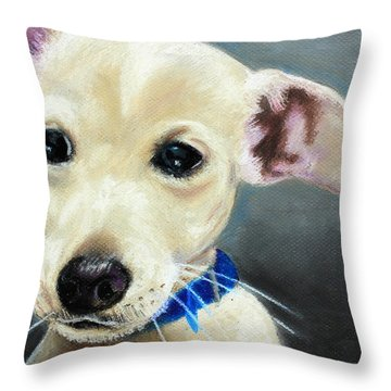 Hank Throw Pillow by Jeanne Fischer