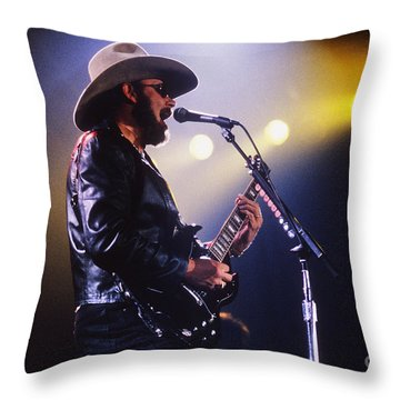Hank Williams Junior - Fs000246 Throw Pillow