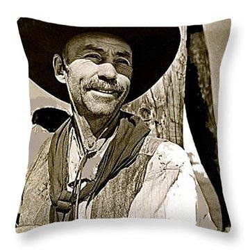 Hank Worden Publicity Photo Red River 1948-2013 Throw Pillow