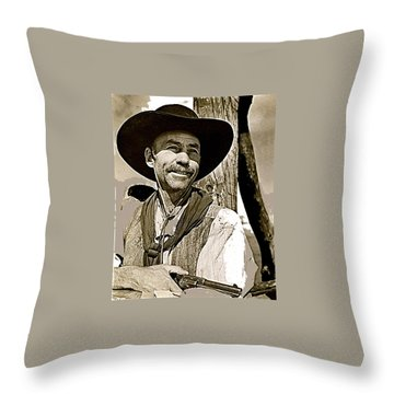 Hank Worden Publicity Photo Red River 1948-2013 Throw Pillow by David Lee Guss
