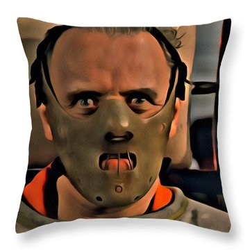 Hannibal Lecter Throw Pillow
