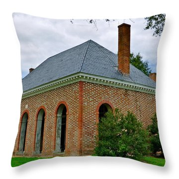 Hanover County Courthouse Throw Pillow