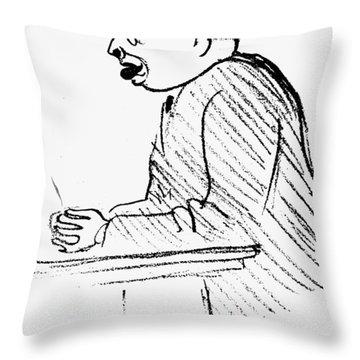 Hans Sachs (1881-1947) Throw Pillow