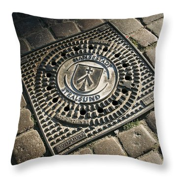 Hansastadt Stralsund Throw Pillow by David Davies