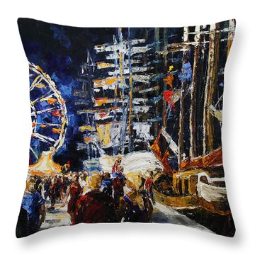 Hanse Sail Rostock Germany Throw Pillow