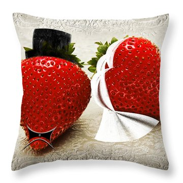 Happily Berry After Throw Pillow by Andee Design