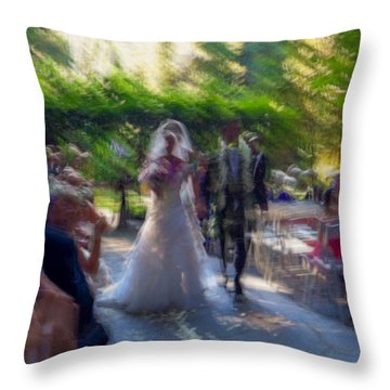 Throw Pillow featuring the photograph Happily Ever After by Alex Lapidus