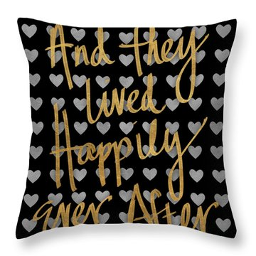 Happily Ever After Pattern Throw Pillow