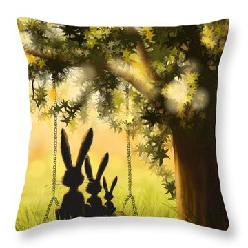 Happily Together Throw Pillow by Veronica Minozzi