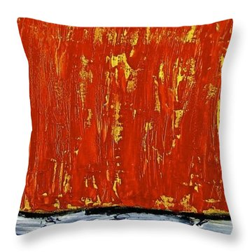 Throw Pillow featuring the painting Happiness 12-007 by Mario Perron