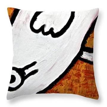 Throw Pillow featuring the painting Happiness 12-010 by Mario Perron