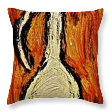 Throw Pillow featuring the painting Happiness 12-011 by Mario Perron