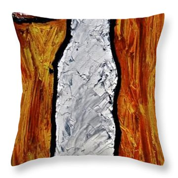 Throw Pillow featuring the painting Happiness 12-012 by Mario Perron