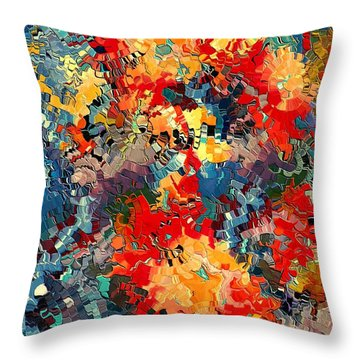 Happiness By Rafi Talby Throw Pillow by Rafi Talby